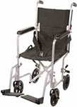 "Drive Medical 17"" Deluxe Lightweight Transport Wheelchair - Silver thumbnail"