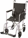 "Drive Medical 19"" Deluxe Lightweight Transport Wheelchair - Silver thumbnail"
