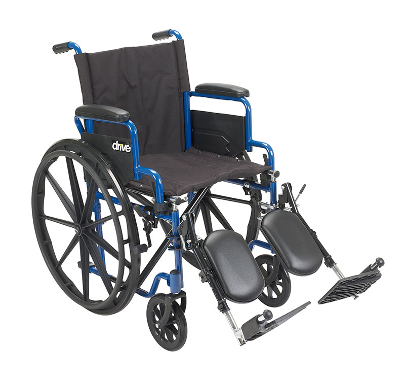 Drive Medical Blue Streak Wheelchair Desk Arms & Leg Rests BLS16FBDELR