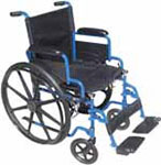 "Drive Medical 18"" Wheelchair Blue Streak w/Swing-Away Footrests thumbnail"
