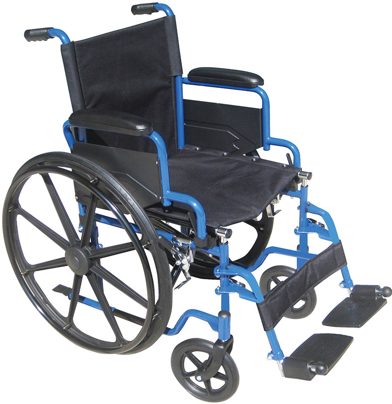 Drive Medical 18 Inch Wheelchair Blue Streak w/Swing-Away Footrests