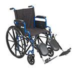 Drive Medical Blue Streak Wheelchair Desk Arms & Leg Rests BLS20FBDELR thumbnail