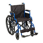 Drive Medical Blue Streak Wheelchair Desk Arms & Footrests BLS20FBDSF thumbnail