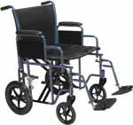 "Drive Medical 20"" Bariatric Transport Wheelchair - BTR20B thumbnail"