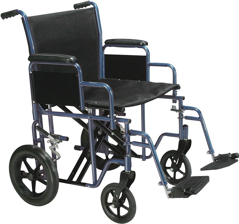 Drive Medical 20 inch Bariatric Transport Wheelchair - BTR20B