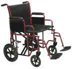 "Drive Medical 20"" Bariatric Transport Wheelchair - BTR20R thumbnail"
