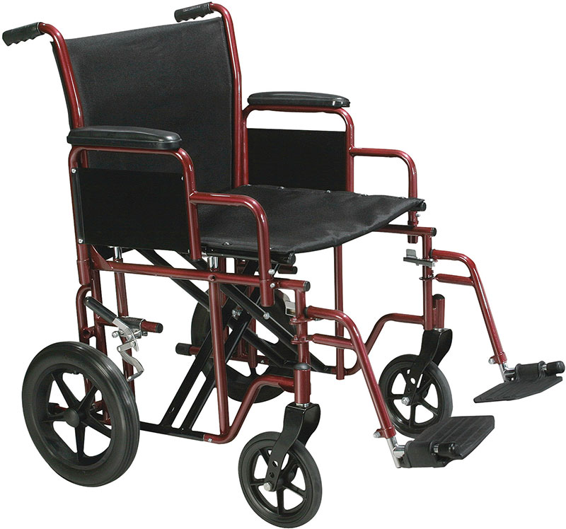 Drive Medical 22 inch Bariatric Transport Wheelchair - BTR22R