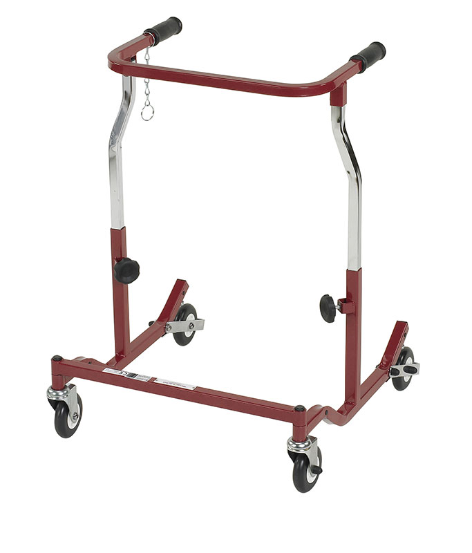 Drive Medical Adult Burgundy Anterior Safety Roller