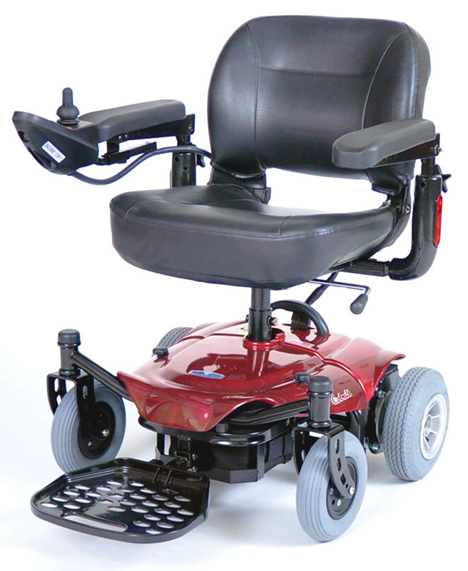 Drive Medical Red Cobalt Travel Power Wheelchair