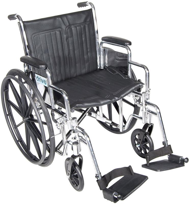 Drive Medical 18 Inch Wheelchair Chrome Sport - CS18DDASF