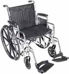 "Drive Medical 20"" Wheelchair Chrome Sport - CS20DDASF thumbnail"