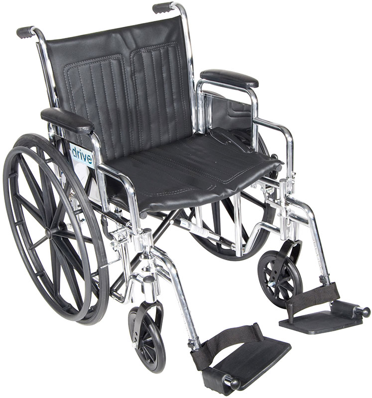 Drive Medical 20 Inch Wheelchair Chrome Sport - CS20DDASF