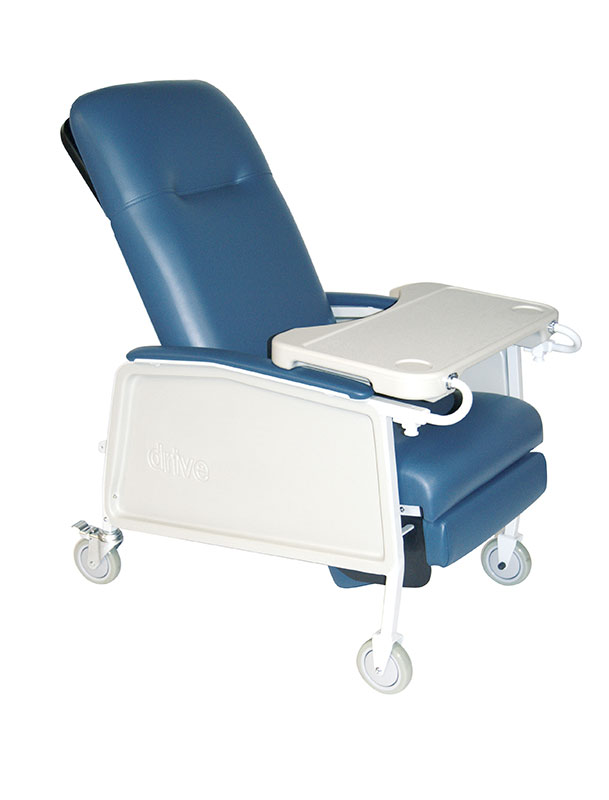 Drive Medical 3 Position Heavy Duty Bariatric Geri Chair Recliner Blue