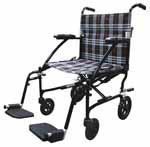 Drive Medical Fly Lite Black Ultra Lightweight Transport Wheelchair