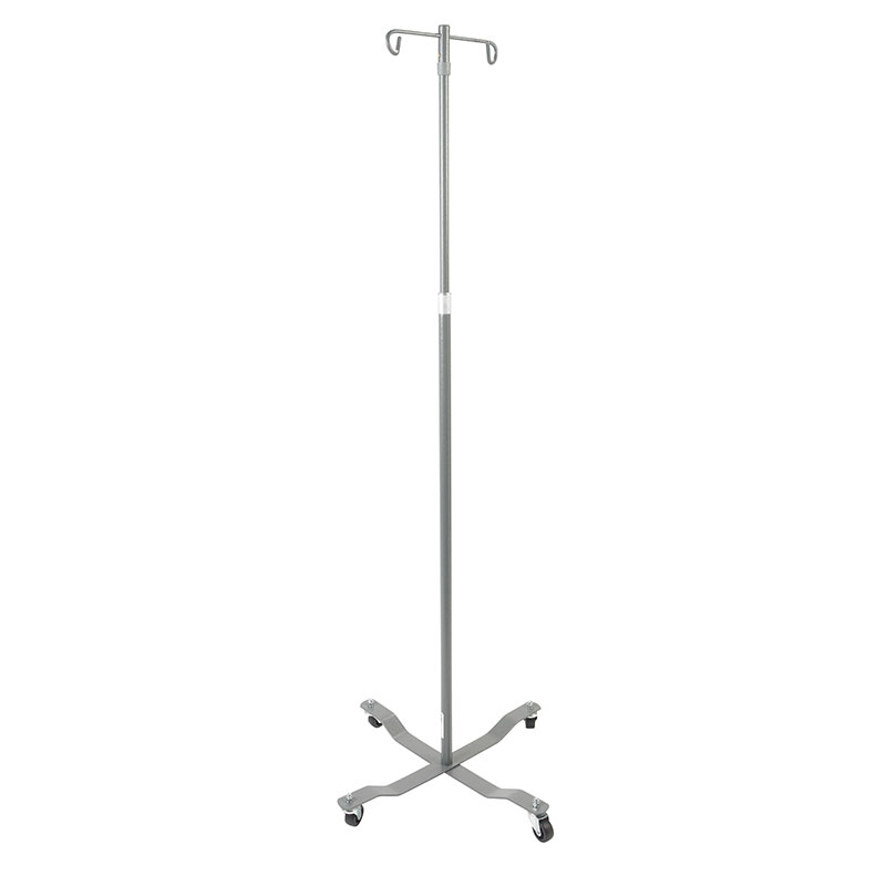 Drive Medical Economy Removable Top Silver Vein IV Pole