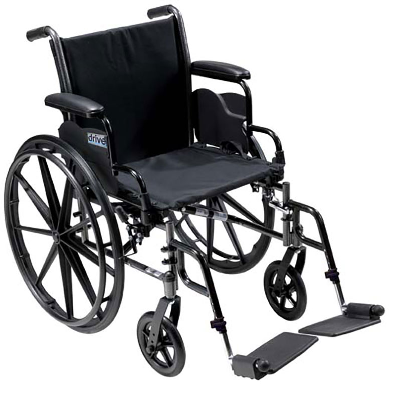 Drive Medical 18 Inch Lightweight Wheelchair Cruiser lll - K318DFAELR