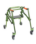 Drive Medical Tyke Rehab Lightweight Posture Walker w/Seat Green