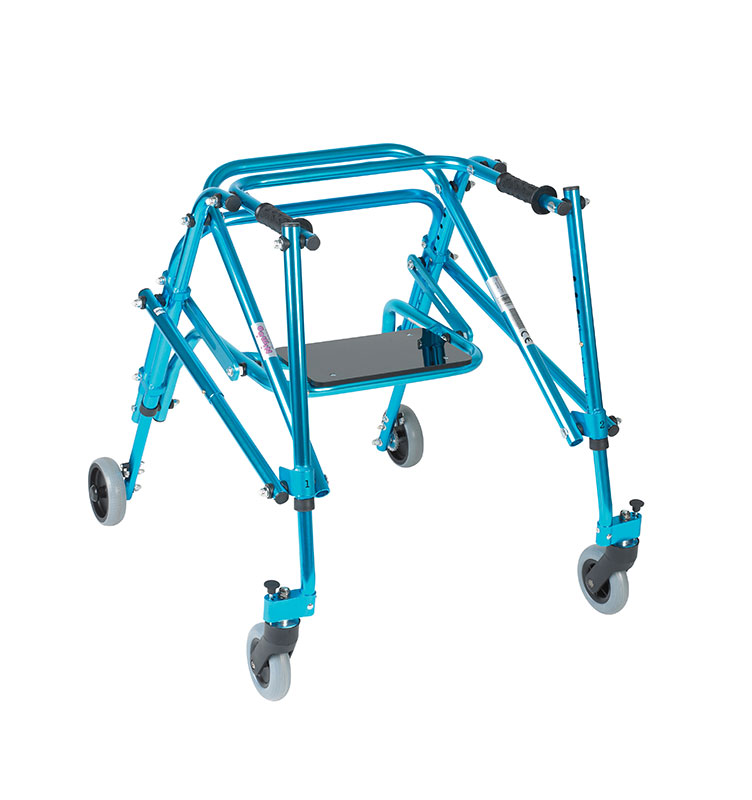 Drive Medical Youth Lightweight Posterior Posture Walker w/Seat Blue