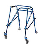 Drive Medical Young Adult Nimbo Rehab Lightweight Posture Walker Blue
