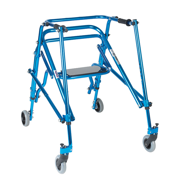 Drive Medical Nimbo Rehab Posterior Posture Walker With Seat Blue