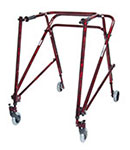 Drive Medical Adult Nimbo Rehab Lightweight Posterior Walker Red
