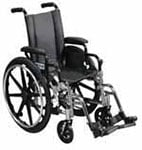"Drive Medical 14"" Lightweight Wheelchair Viper - L414DDAELR thumbnail"