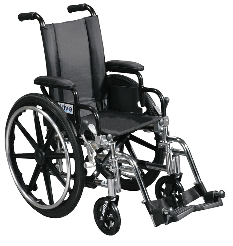 Drive Medical 14 Inch Lightweight Wheelchair Viper - L414DDAELR
