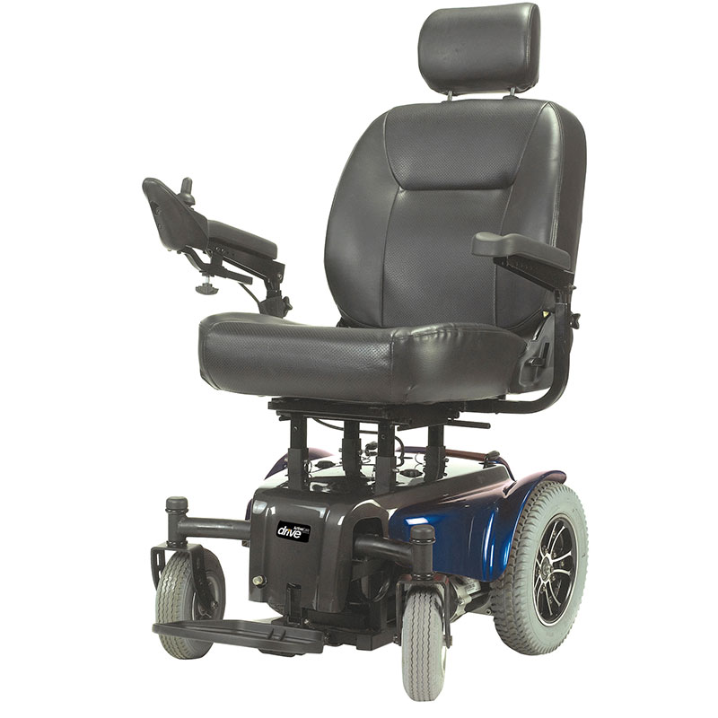 Drive Medical Blue Medalist Heavy Duty Wheelchair MEDALIST450BL24CS