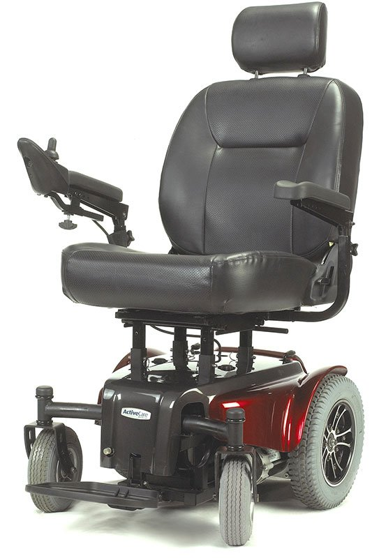 Drive Medical Red Medalist Heavy Duty Wheelchair MEDALIST450RD22CS