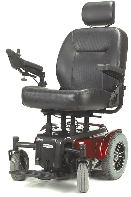 Drive Medical Red Medalist Heavy Duty Wheelchair MEDALIST450RD24CS
