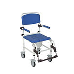 Drive Medical Aluminum Shower Commode Transport Chair thumbnail