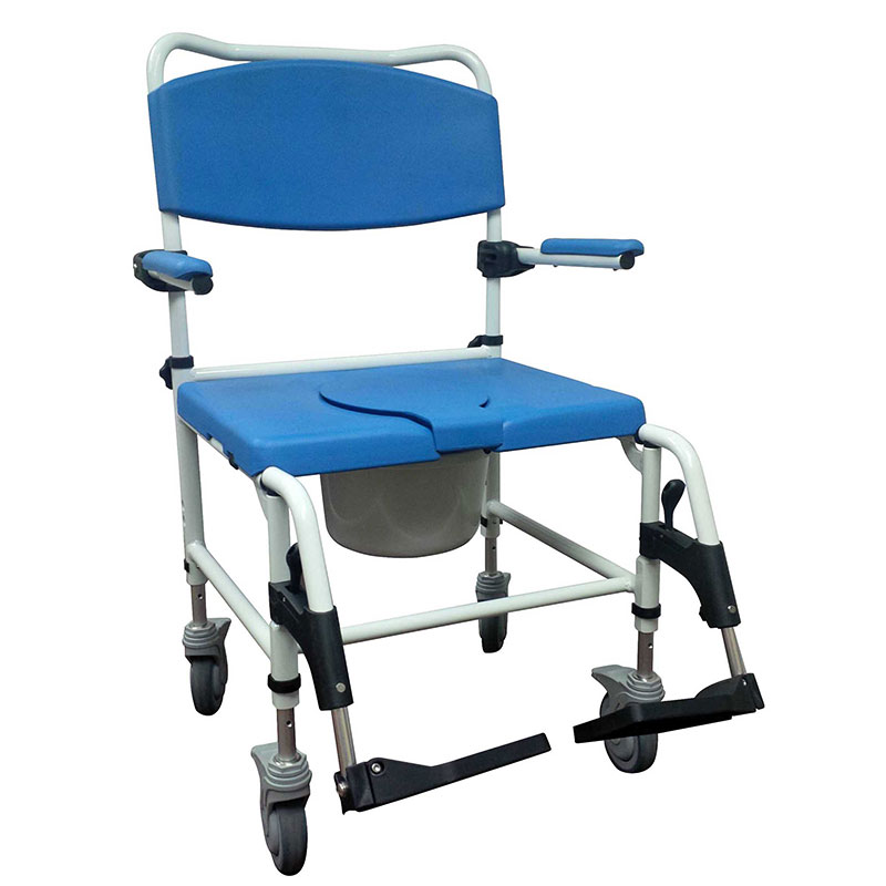 Drive Medical Bariatric Aluminum Rehab Shower Commode Chair w/Casters
