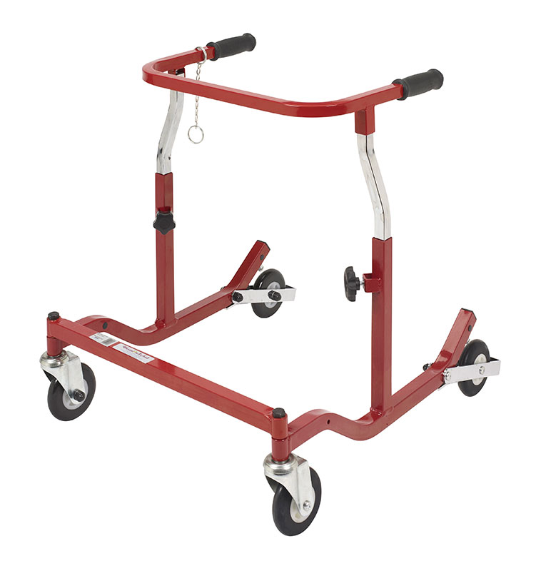 Drive Medical Pediatric Burgundy Anterior Safety Roller