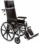 "Drive Medical 12"" Reclining Wheelchair Viper Plus - PL412RBDDA thumbnail"