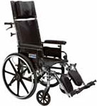 "Drive Medical 14"" Reclining Wheelchair Viper Plus - PL414RBDDA thumbnail"