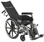 "Drive Medical Viper Plus GT 18"" Reclining Wheelchair w/Full Arms thumbnail"