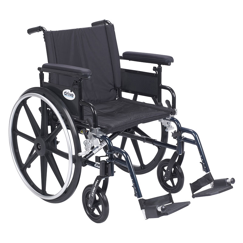 Drive Medical Viper Plus GT Adj Full Arm & Footrest PLA420FBFAARADSF