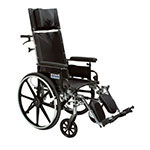 """Drive Medical Viper Plus GT 20"""" Reclining Wheelchair With Desk Arms thumbnail"""