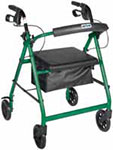 Drive Medical Green Rollator w/Fold Up & Removable Back Support thumbnail