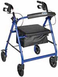 Drive Medical Blue Rollator Removable & Foldable Back Support thumbnail