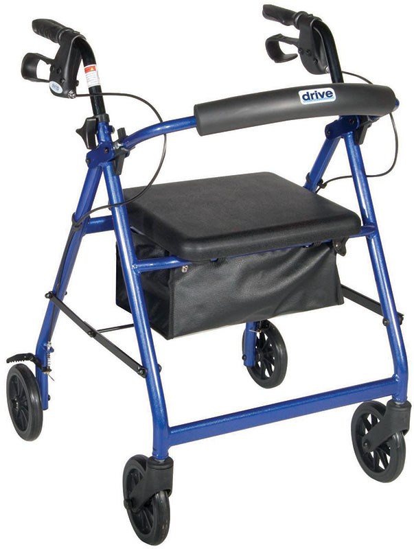 Drive Medical Blue Rollator Removable & Foldable Back Support
