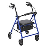 """Drive Medical Rollator with 6"""" Wheels Blue thumbnail"""