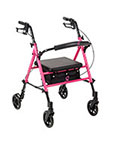 Drive Medical Breast Cancer Awareness Adjustable Height Rollator Pink thumbnail