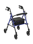 "Drive Medical Adjustable Height Blue Rollator with 6"" Wheels thumbnail"