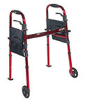 "Drive Medical Folding Travel Walker w/5"" Wheels & Fold Up Legs thumbnail"