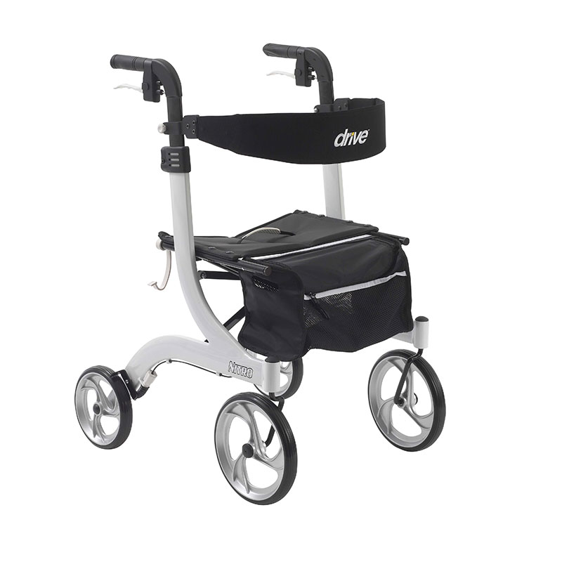 Drive Medical Nitro Euro Style White Rollator Walker