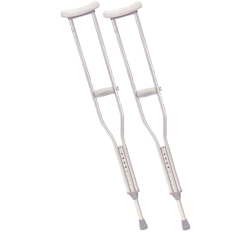 Drive Medical Adult Walking Crutches With Underarm Pad & Handgrip