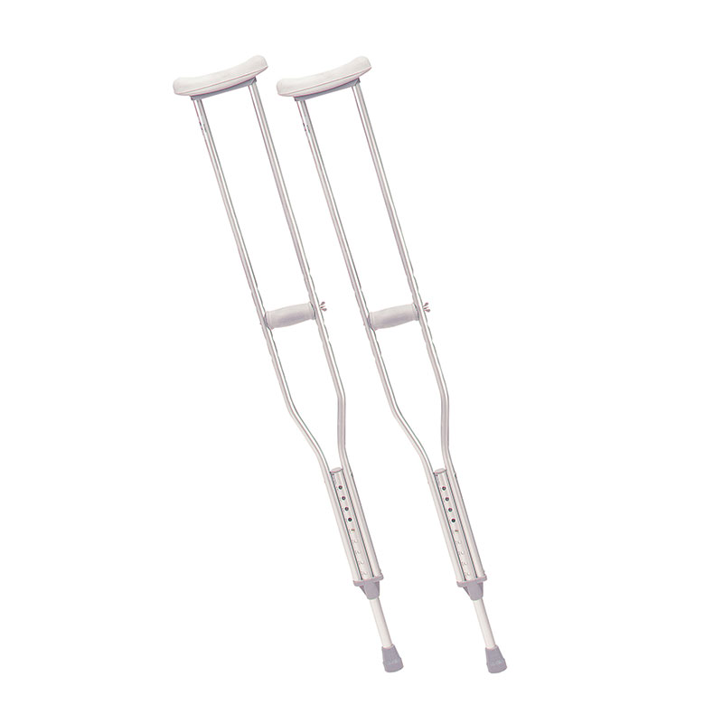 Drive Medical Tall Adult Walking Crutches w/Underarm Pad & Handgrip