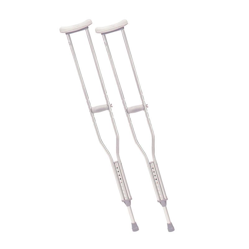 Drive Medical Tall Adult Walking Crutches w/Underarm Pad & Handgrip
