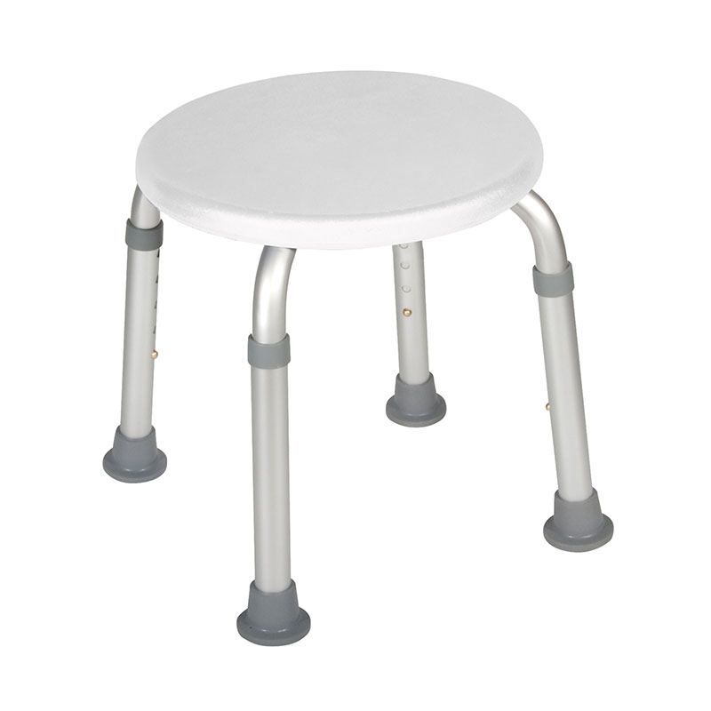 Drive Medical Adjustable Height White Bath Stool